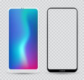 Smartphone mockup white and black. Royalty Free Stock Images