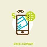 Smartphone moderne avec le traitement du mobile Photo stock
