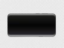 Smartphone moderno con lo schermo in bianco Vettore illustrazione di stock