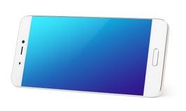 Smartphone moderno del touch screen isolato su bianco immagini stock libere da diritti