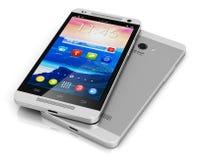 Smartphone moderno dello schermo attivabile al tatto Fotografia Stock Libera da Diritti