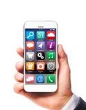 Smartphone moderno a disposizione fotografia stock libera da diritti