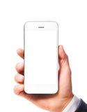 Smartphone moderno a disposizione fotografie stock