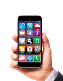 Smartphone moderno a disposizione immagini stock libere da diritti