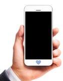 Smartphone moderno a disposizione fotografia stock