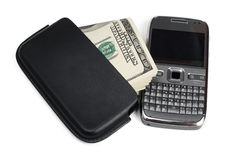 Smartphone and money Stock Image