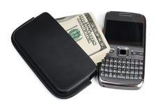Smartphone and money Stock Image