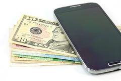Smartphone money business Stock Image
