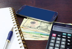 Smartphone money business composition Royalty Free Stock Photography