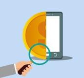 Smartphone money internet security. Illustration eps 10 Stock Photo
