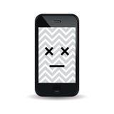 Smartphone mort Photos libres de droits