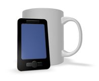 Smartphone and mug Stock Image