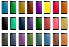 Smartphone multicolor lcd screen preview Stock Image