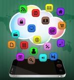 Smartphone multimedia Arkivbilder
