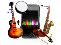 Smartphone music Royalty Free Stock Images