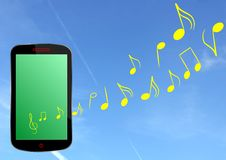 Smartphone music - cdr format royalty free stock images