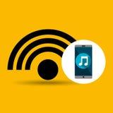 Smartphone music online internet Stock Photography