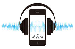 Smartphone Music Sound Stock Image