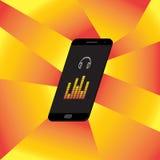 Smartphone-Muziekspel Royalty-vrije Stock Afbeelding