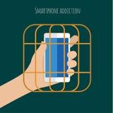 Smartphone nałóg ilustracji