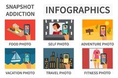 Smartphone nałóg infographic ilustracji
