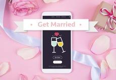Smartphone na pastelowym tle Fotografia Royalty Free