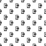 Smartphone-naadloze het patroon van grafiekpercenten vector illustratie