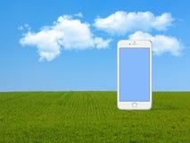 Smartphone naturbakgrund Royaltyfria Bilder