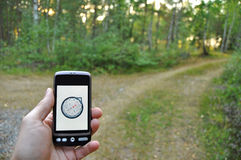 Smartphone navigation Royalty Free Stock Image