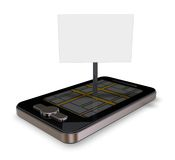 Smartphone navigation Royalty Free Stock Photos