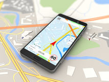 Smartphone navigation Royalty Free Stock Images