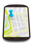 Smartphone nawigacja Obraz Royalty Free