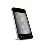 Smartphone with Near Field Communication (NFC) showing a credit Stock Image