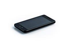 Smartphone negro - adminículo del estilo de la galaxia fotos de archivo