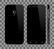 Smartphone negro con la pantalla en blanco ilustración del vector