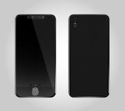 Smartphone nel colore nero con lo schermo in bianco, royalty illustrazione gratis