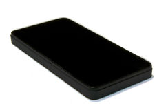 Smartphone nero Immagine Stock Libera da Diritti