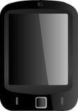 Smartphone nero con lo schermo attivabile al tatto Fotografia Stock