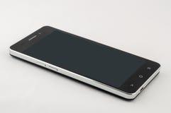 Smartphone nero con lo schermo fuori Immagine Stock
