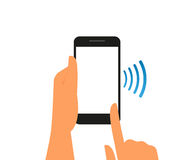Smartphone with nfc function Royalty Free Stock Image