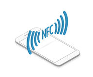 Smartphone with nfc function Stock Photography
