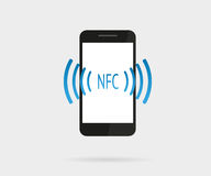 Smartphone with nfc function Stock Photo