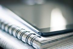 Smartphone on notebook