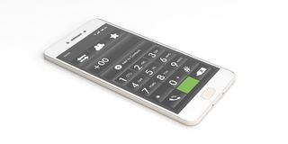 Smartphone number keypad on white. 3d illustration Royalty Free Stock Photo