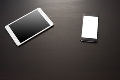Smartphone och digital minnestavla Royaltyfria Foton
