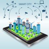 Smartphone och internet av saker Apps royaltyfri illustrationer
