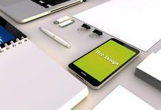 Smartphone office web design Stock Photo