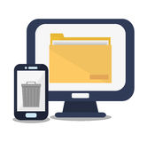 Smartphone of office and work design Stock Images
