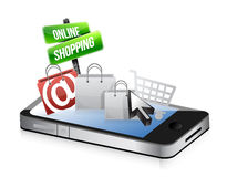 Smartphone online shopping concept Royalty Free Stock Photo