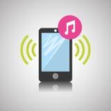 Smartphone-ontwerp, contact en technologieconcept, editable vector Stock Afbeeldingen